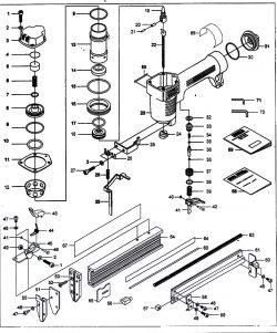 NB0030 - Pneumatic Brad Nailer Parts schematic