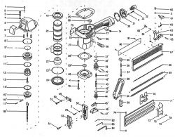 NB0065 - Pneumatic Brad Nailer Parts schematic
