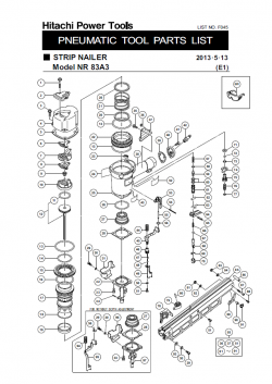 nr83a3s pneumatic framing nailer parts schematic