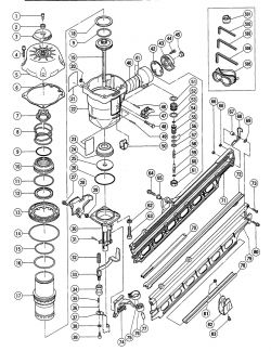NR90AC - Pneumatic Framing Nailer Parts schematic