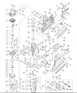 nr90gr2 gas powered framing nailer parts schematic