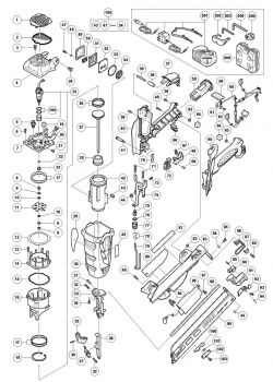 NT65GA - Gas Powered Finish Nailer Parts schematic