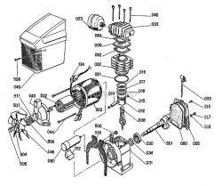 OL50135 - Air Compressor Pump Parts schematic