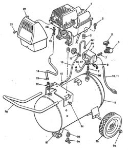VP0402010.01 - Air Compressor Parts schematic