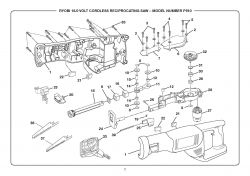 P510 - Cordless Reciprocating Saw Parts schematic