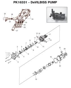 PK16331 - Pressure Washer Pump Parts schematic