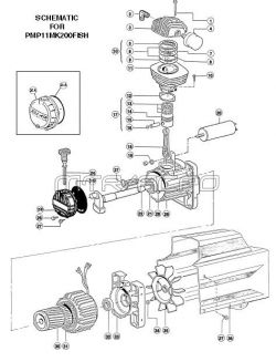 PMP11MK200FI, PMP11MK200FISH - Air Compressor Pump Parts schematic