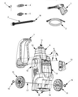 PW1810 - Pressure Washer Parts schematic