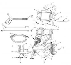 PW2458H2, PW2458H2LE - Pressure Washer Parts schematic