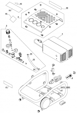 C1010 - Air Compressor Parts schematic