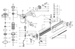 BN125A - Pneumatic Brad Nailer Parts schematic