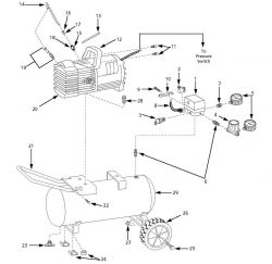 MT500106 - PowerPal Air Compressor Parts schematic