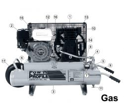 TH5530, TR6030, TR908, TH908, TK128-I - Air Compressor Parts schematic
