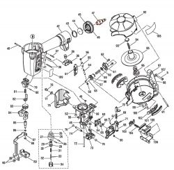 R175RND - Pneumatic Coil Roofing Nailer Parts schematic