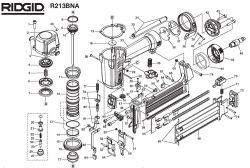 R213BNA - Pneumatic Brad Nailer Parts schematic