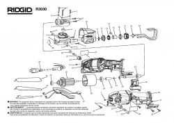 R3030 - Reciprocating Saw Parts schematic