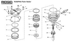 R350PNA - Pneumatic Palm Nailer Parts schematic