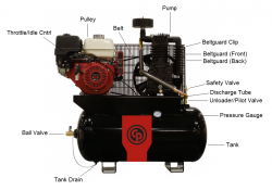 Rcp 1330g Chicago Pneumatic Gas Drive Air Compressor Parts