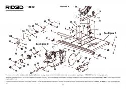R4510 A - Table Saw Parts schematic