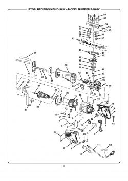 RJ165VK - Reciprocating Saw Parts schematic