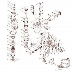 RN164500, RN164599AV - Pneumatic Coil Roofing Nailer Parts schematic