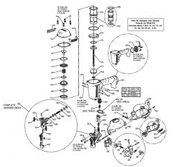 RN46   Pneumatic Coil Roofing Nailer Parts Schematic