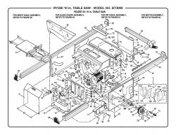 "BT3000 - 10"" Table Saw Parts schematic"