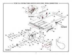 RTS20 A - Table Saw Parts schematic
