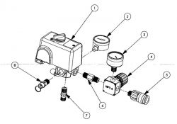 ILA1682066 - Air Compressor Regulator Parts schematic