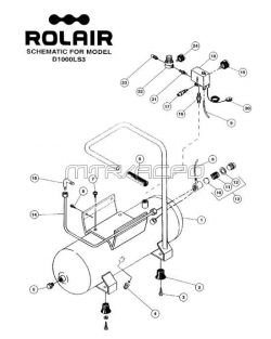 D1000LS3 - Air Compressor Parts schematic