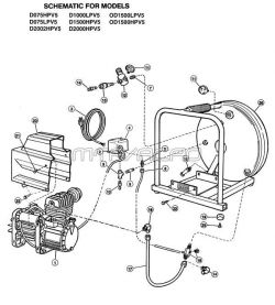 D2002HPV5 - Air Compressor Parts schematic