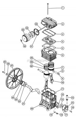 K12 - Air Compressor Pump Parts schematic