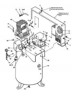 S51-AT18-60V - Air Compressor Parts schematic