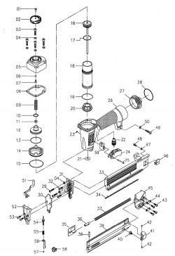 SB-1842BN - Pneumatic Brad Nailer Parts schematic