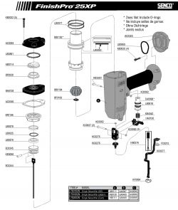 FinishPro-25XP - Pneumatic Finish Nailer Parts schematic
