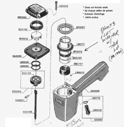 SFN1 - Pneumatic Finish Nailer Parts schematic