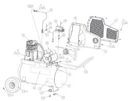 SPA0502054 - Air Compressor Parts schematic
