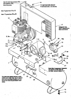2-C523E80H, 2-C523E120H - Air Compressor Parts schematic