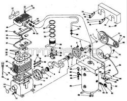 500A30V, 500A30H, 500A60V, 500A60, 500A60H - Air Compressor Parts schematic