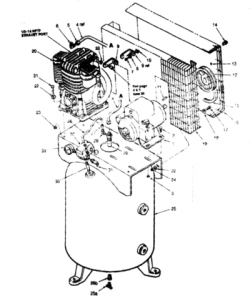51-A21, 51-AT21, B51-A21-80V-SWC - Air Compressor Parts schematic