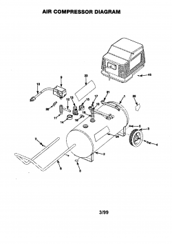 919.162121 - Portable Oil-Free Electric Air Compressor Parts schematic