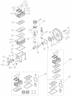 753H, 755H - Air Compressor Pump Parts schematic