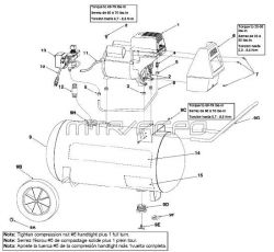 VP0502510.01 - Air Compressor Parts schematic