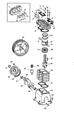 VT500601, VT-5006-01 - Air Compressor Pump Parts schematic
