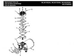 WL371600AJ - Air Compressor Pump Parts schematic