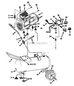 WL610098, WL610099, WL610001, WL610001AJ - Air Compressor Parts schematic