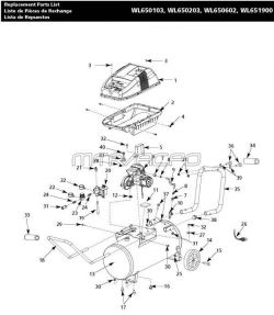 WL651900AJ - Air Compressor Parts schematic