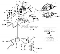 WL660000, WL660000AJ, WL660001, WL660001AJ - Air Compressor Parts schematic
