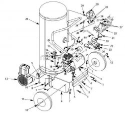 WL802700, WL802700AJ - Air Compressor Parts schematic