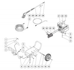 WP-2500-4MHB - Pressure Washer Parts schematic